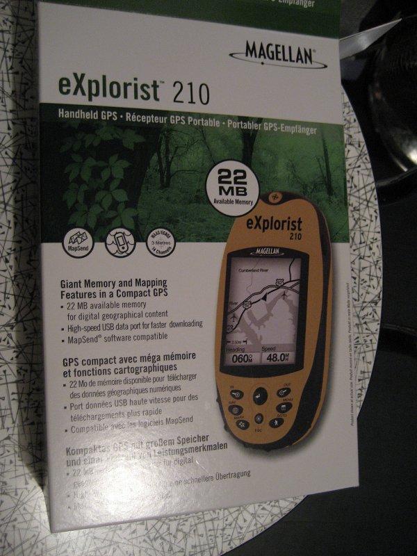 NEW Magellan eXplorist 210 Handheld GPS Unit Waterproof Hiking geocache portable